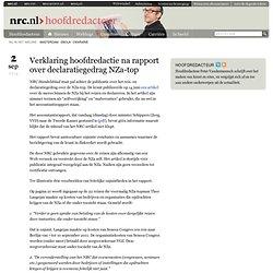 Verklaring hoofdredactie na rapport over declaratiegedrag NZa-top
