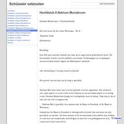Hoofdstuk 8 Natrium Muriaticum - Schüssler celzouten