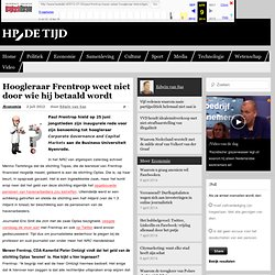 webarchive: Wie betaalt hoogleraar Paul Frentrop: Topas, Optas of havenarbeiders?