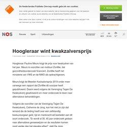Hoogleraar wint kwakzalversprijs