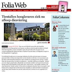 Foliaweb: Tientallen hoogleraren ziek na afloop diesviering