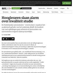 31/03/00 Hoogleraren slaan alarm over kwaliteit studie De Nederlandse universiteiten `verschoolsen', Bestuurders reageren niet.