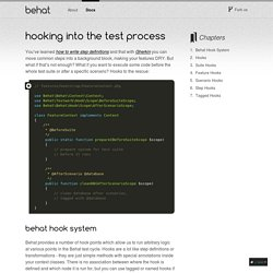 Hooking into the Test Process — Behat 3.0.12 documentation