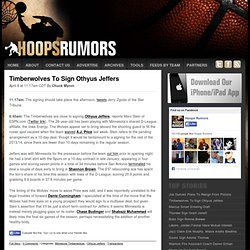 NBA Rumors - HoopsRumors.com