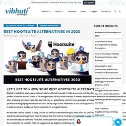 Best HootSuite Alternatives Solutions in 2020