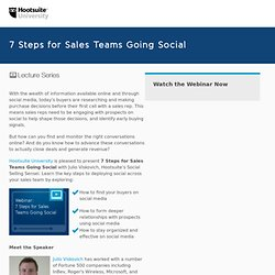 University Lecture Series: 7 Steps for Sales Teams Going Social