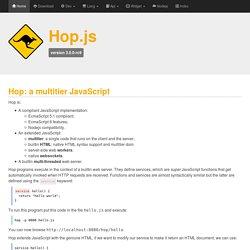 Hop.js