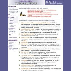 Hopelink Adult Education - Resources for ESL