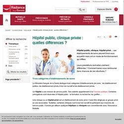 Hôpital public, hôpital privé : les différences