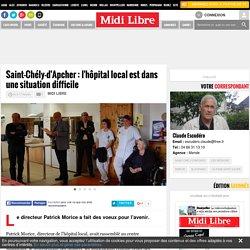 Saint-Chély-d'Apcher : l'hôpital local est dans une situation difficile