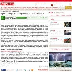 Agen. A l'hôpital, les urgences sont sur le qui-vive - 16/08/2012