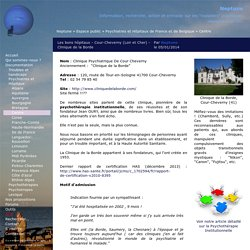 Les bons hôpitaux - Cour-Cheverny (Loir et Cher) - Clinique de la Borde
