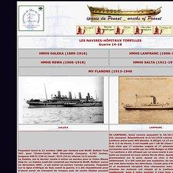 Les navires hôpitaux coulés pendant la première guerre mondiale