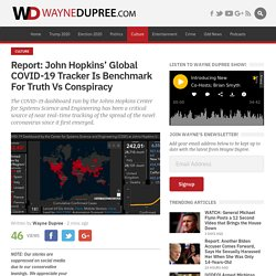 Report: John Hopkins' Global COVID-19 Tracker Is Benchmark For Truth Vs Conspiracy