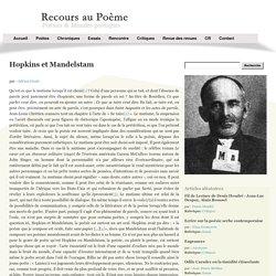 Hopkins et Mandelstam