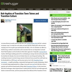 Rob Hopkins of Transition Town Totnes and Transition Culture