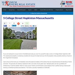 5 College Street Hopkinton Massachusetts
