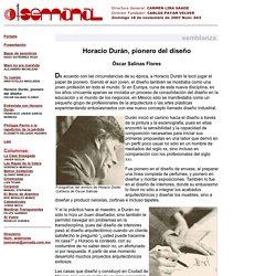 Horacio Durán, pionero del diseño