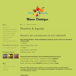 Horaires & Agenda