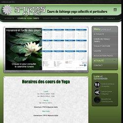 Horaires des cours de Yoga au centre et tarifs des cours de yoga à saint etienne rue bergson proche de la cité du design