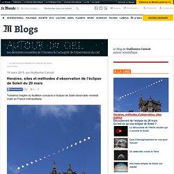 Horaires, sites et méthodes d'observation de l'éclipse de Soleil du 20 mars