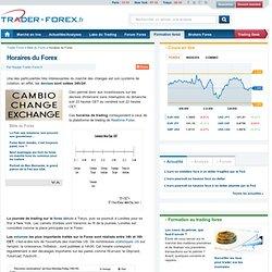 Horaires du Forex, le trading expliqué aux novices – Trader Forex