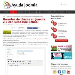 Horarios de clases en Joomla 2.5 con Schedule School