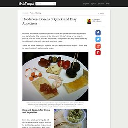 Horderves- Dozens of Quick and Easy Appetizers