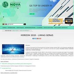 Horizon 2020 - Linhas gerais