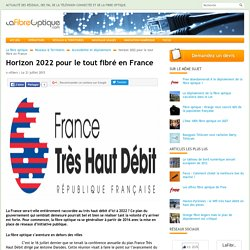 Horizon 2022 pour le tout fibré en France