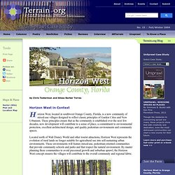 Horizon West in Orange County, Florida : UnSprawl Case Study : Terrain.org