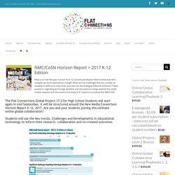 Horizon Report K-12, 2017 – Student collaboration around global trends