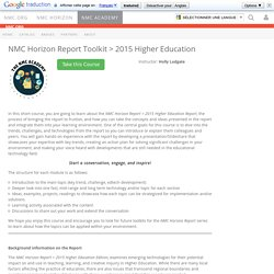 Horizon Report Toolkit > 2015 Higher Education - NMC ACADEMY