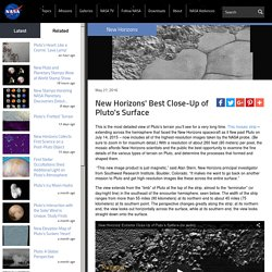 New Horizons' Best Close-Up of Pluto's Surface