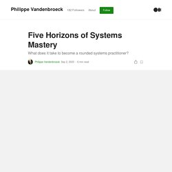 Five Horizons of Systems Mastery. What does it take to become a rounded…