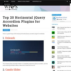 Top 20 Horizontal jQuery Accordion Plugins for Websites