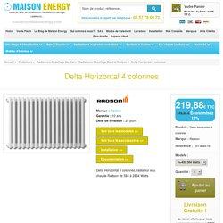 Delta Horizontal 4 colonnes, radiateur eau chaude Radson de 584 à 2834 Watts