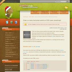 Créer un menu horizontal centré en CSS (sans JavaScript)