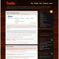 Flickr horizontal menu | Candes Projects | Cristian Neagu - Web