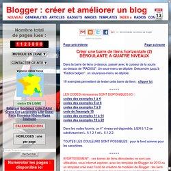 créer et améliorer un blog: Menu horizontal déroulant à 4 niveaux (2)