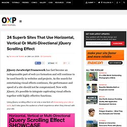 24 Superb Sites That Use Horizontal, Vertical Or Multi-Directional jQuery Scrolling Effect