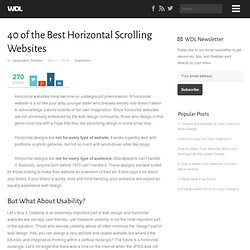 40 of the Best Horizontal Scrolling Websites