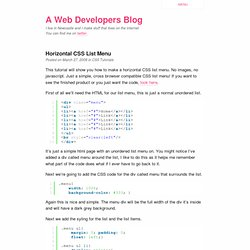 Horizontal CSS List Menu