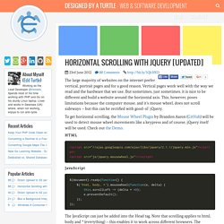 Horizontal Scrolling with jQuery [Updated]