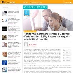Horizontal Software : chute du chiffre d'affaires de 16,5%, Extens va acquérir la totalité du capital