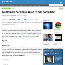 Customize horizontal rules to add some flair