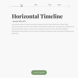 Horizontal Timeline