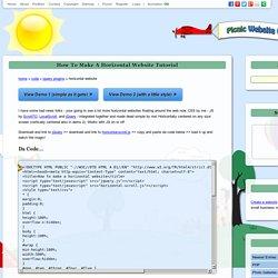 How To Make a Horizontal Website Tutorial