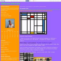 Lignes horizontales et verticales avec Mondrian - Maîtresse Gribouille