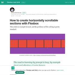 How to create horizontally scrollable sections with Flexbox
